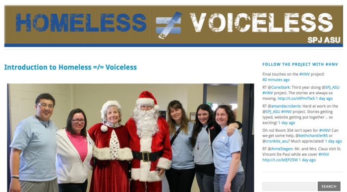 Homeless not Voiceless 2012